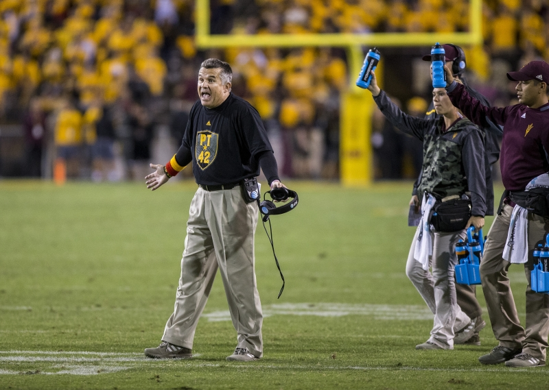 Football Oregon Todd Graham time-out Q4