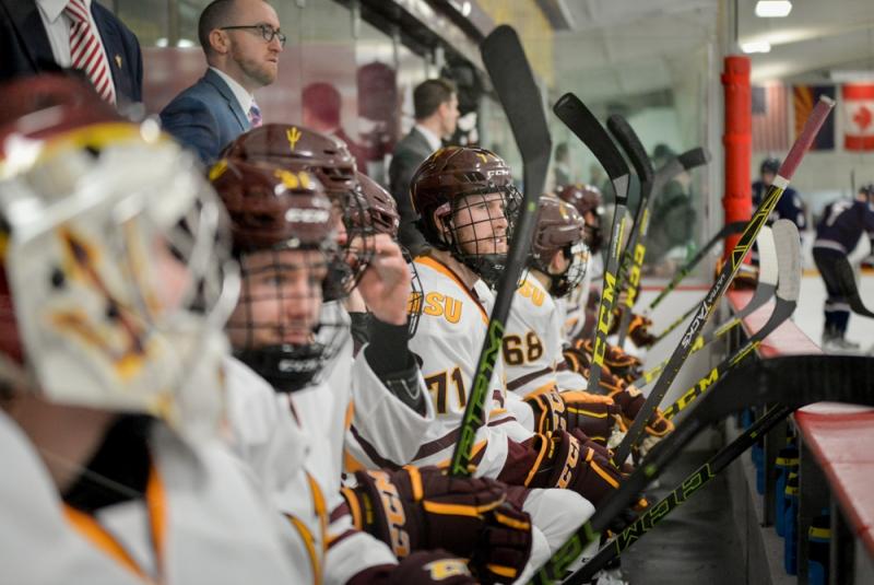 ASU hockey's Daccord pulled in 5-2 road loss at Northeastern