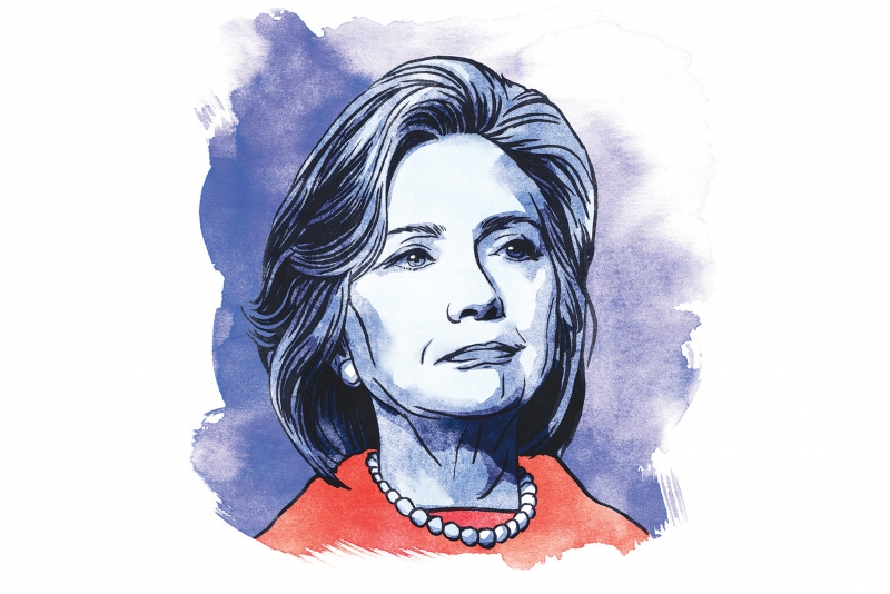 ILLUSTRATION: Hillary Clinton
