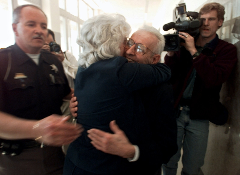 LAW VERDICT MURDER TRIAL ASSISTED SUICIDE DOCTOR DEATH SENTENCE CONTROVERSY CONTROVERSIAL TERMINALLY ILL HUG EMBRACE