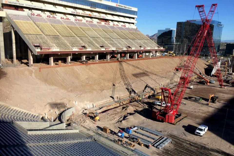 sun devil stadium renovations progress 39 master plan 39 in early stages the state press. Black Bedroom Furniture Sets. Home Design Ideas