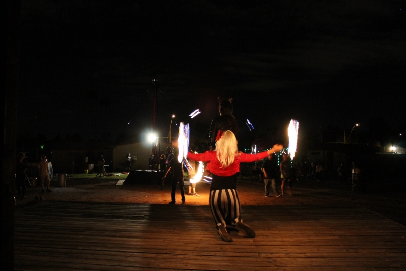 Flow arts: Dancing with elements