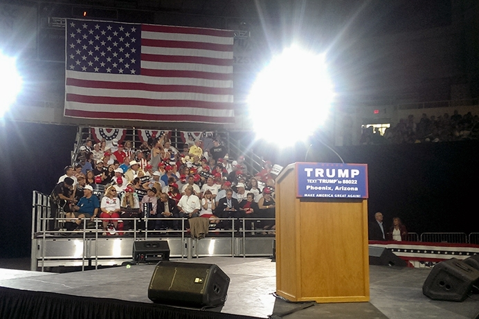 Presumptive GOP nominee Donald Trump calls for change at Phoenix rally