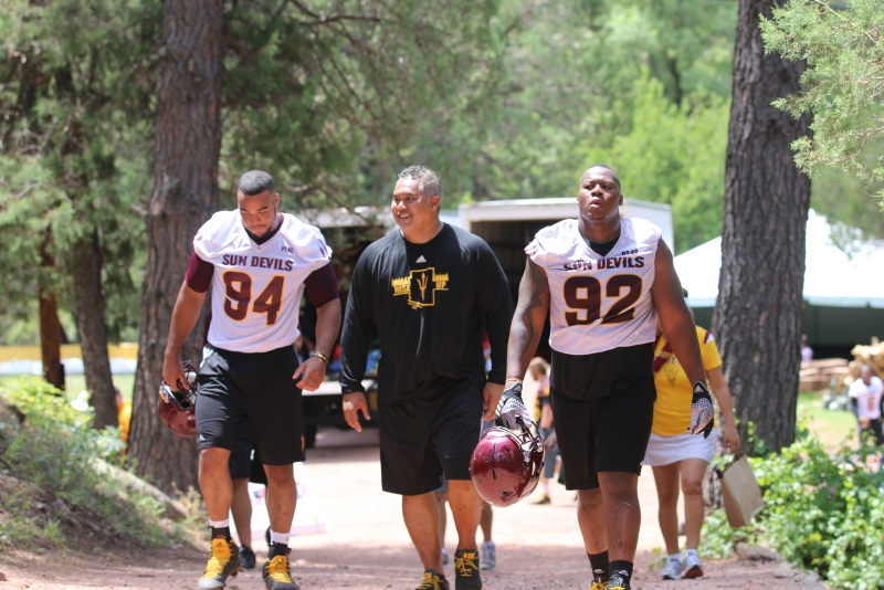 Christian Hill, Coach Seumalo and Tramel Topps