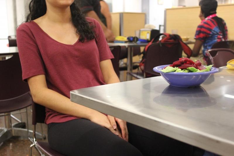 Student & Salad