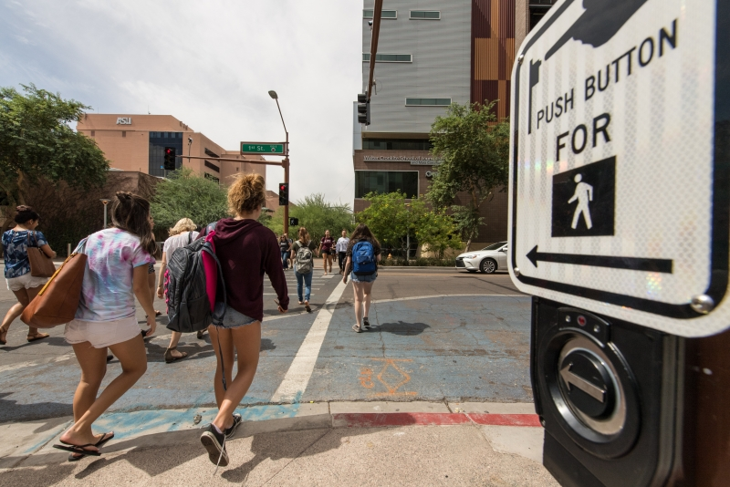 Safety for the blind: downtown Phoenix proves hazardous for ASU students with disabilities