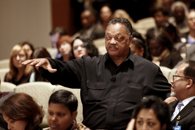 Jesse Jackson is pleased with progress on diversity, but pushing for more