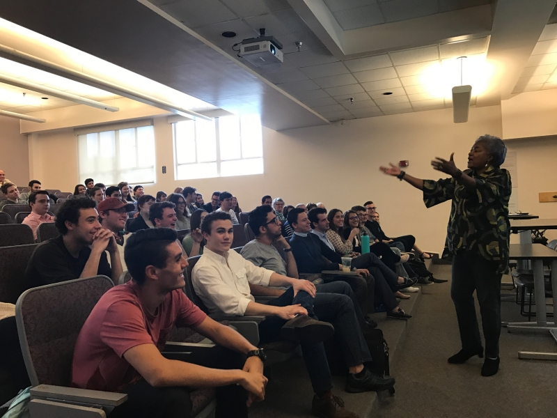 Donna Brazile Visits ASU Young Democrats Meeting