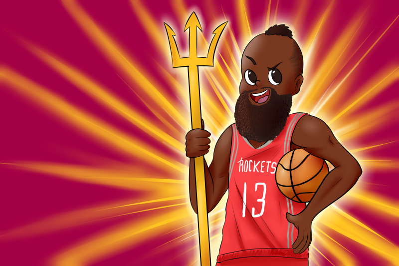 James Harden Illustrator