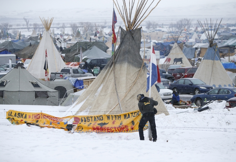 North Dakota pipeline protest