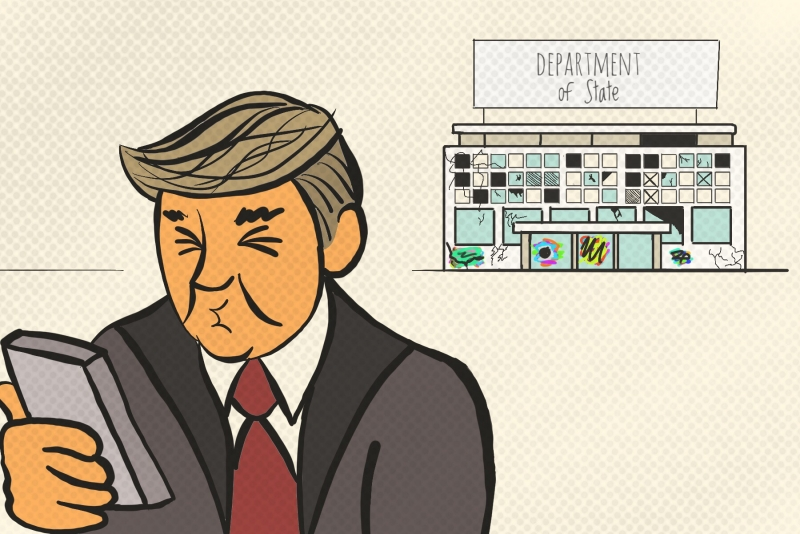 trump and the state department