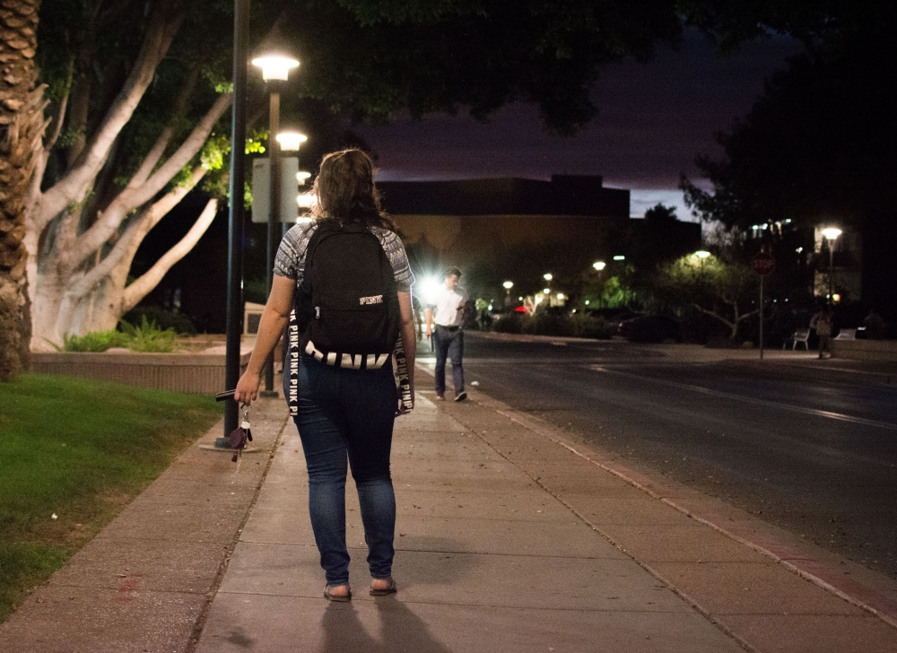 how to feel safe walking alone at night