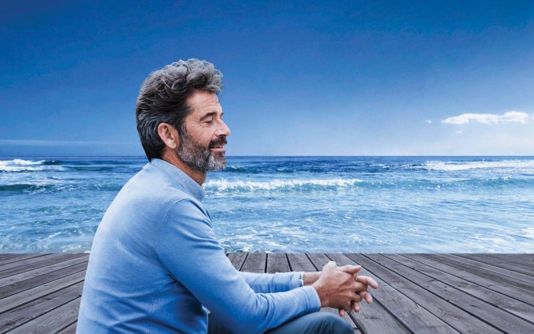 a man on a beach