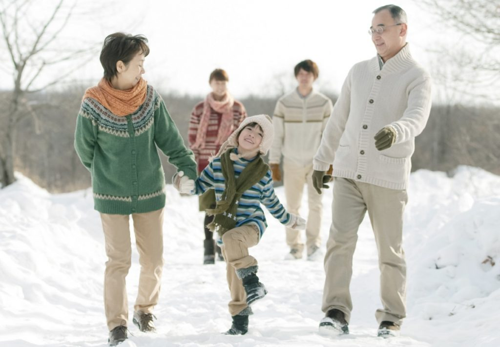 family in snow fb