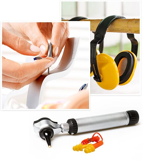 selection of hearing aid products