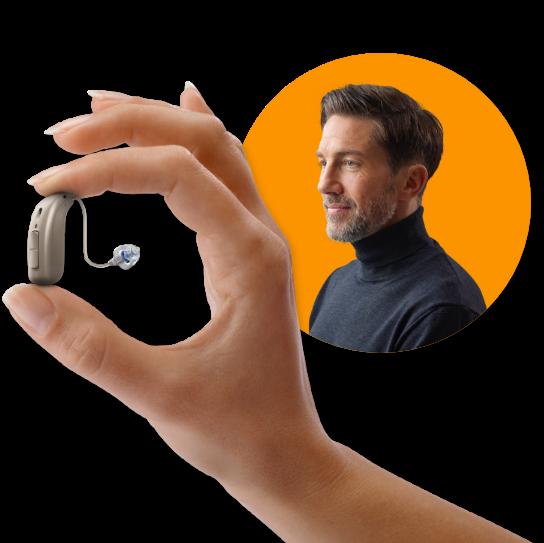hearing aid image oticon