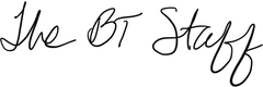 BT Staff Signature