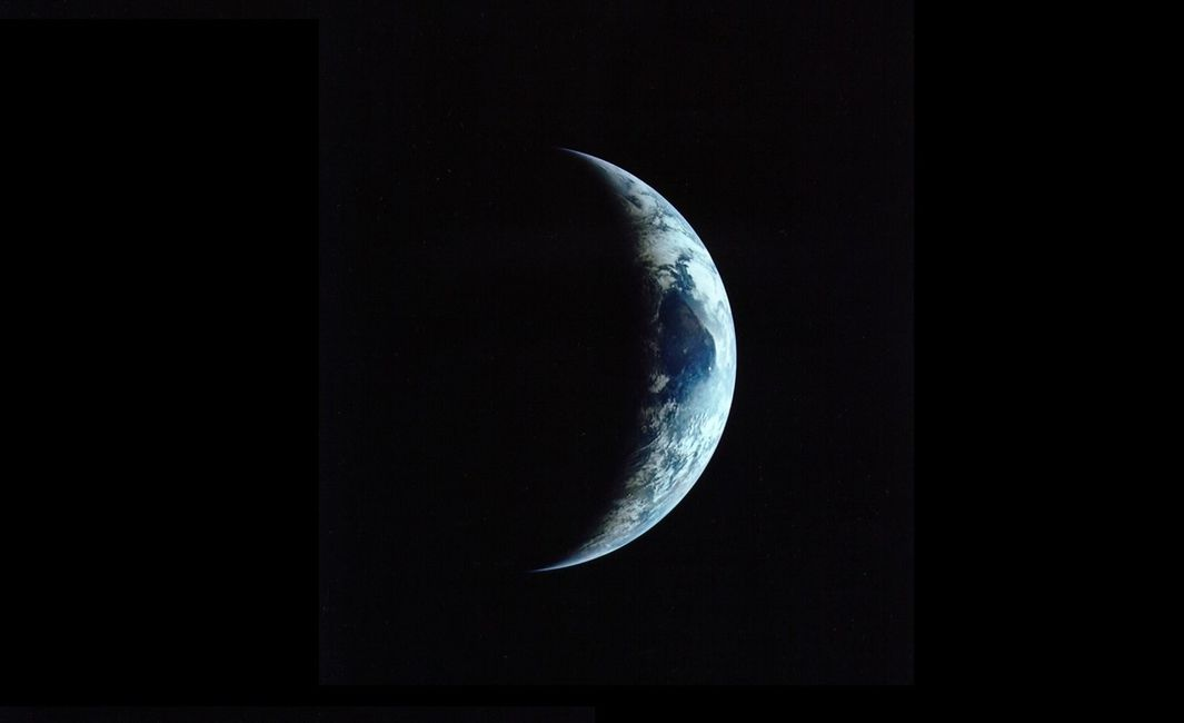 An image of Earth's terminator.