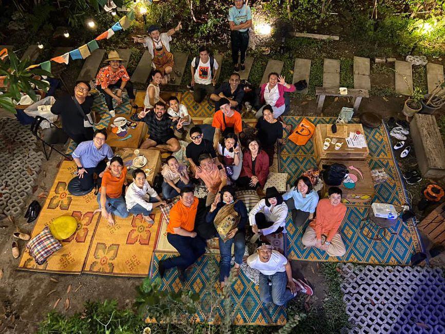 Boma Momentum viewing party at the Yard Hostel in Bangkok, Thailand