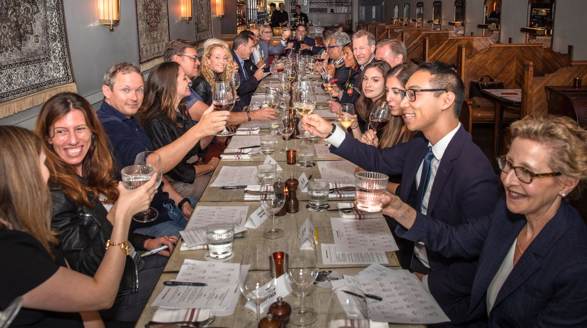 Guests raise a glass before discussing the future of data privacy at a recent Boma Canada Impact Dinner in Toronto.