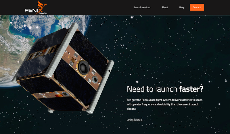 fenix-space-homepage