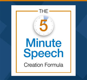 public speaking technique, The 5 Minute Speech Creation Formula
