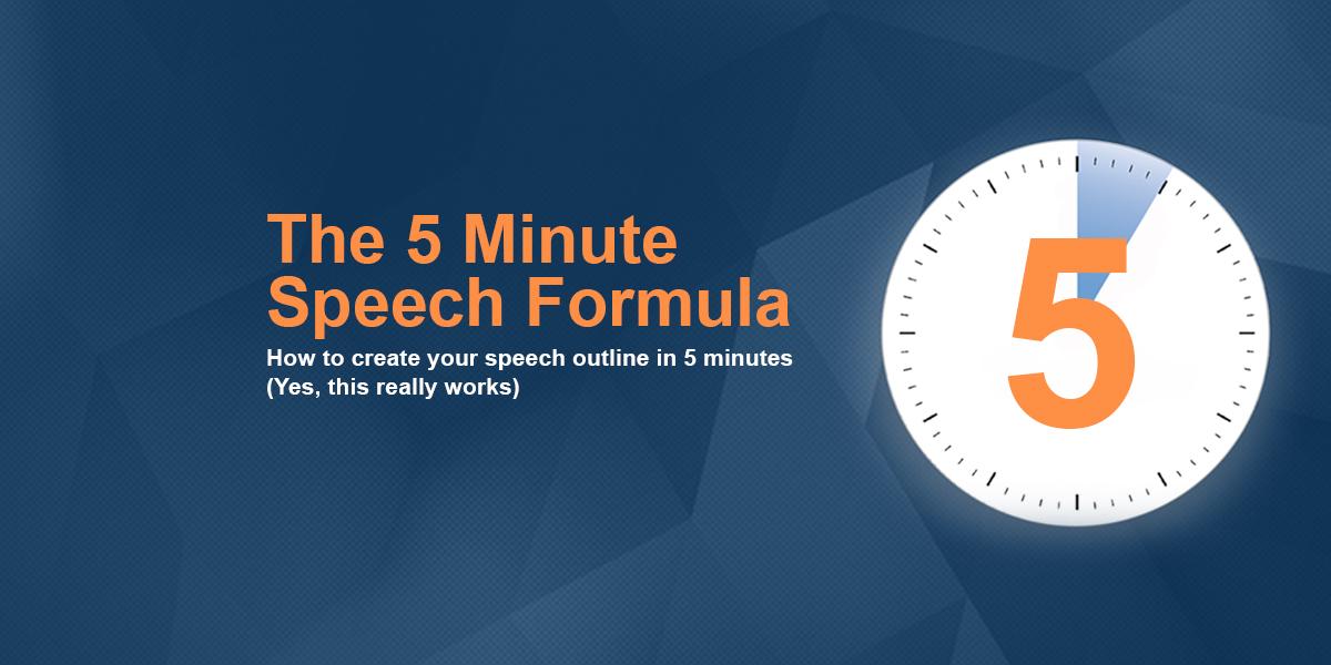 how long is a 5 minute speech