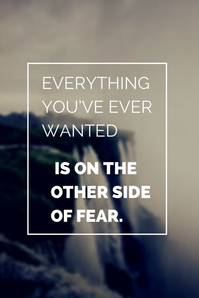brian tracy other side of fear quote