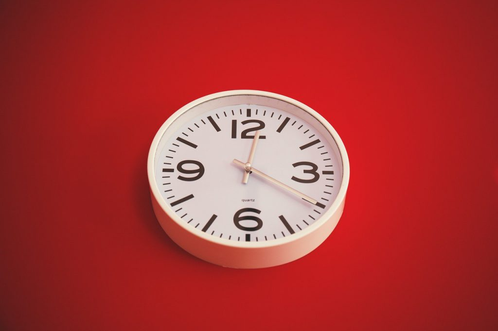 clock used for time management skill development