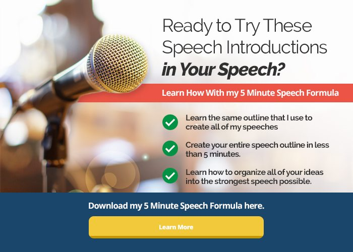 15 Ways to Start a Speech + Bonus Tips
