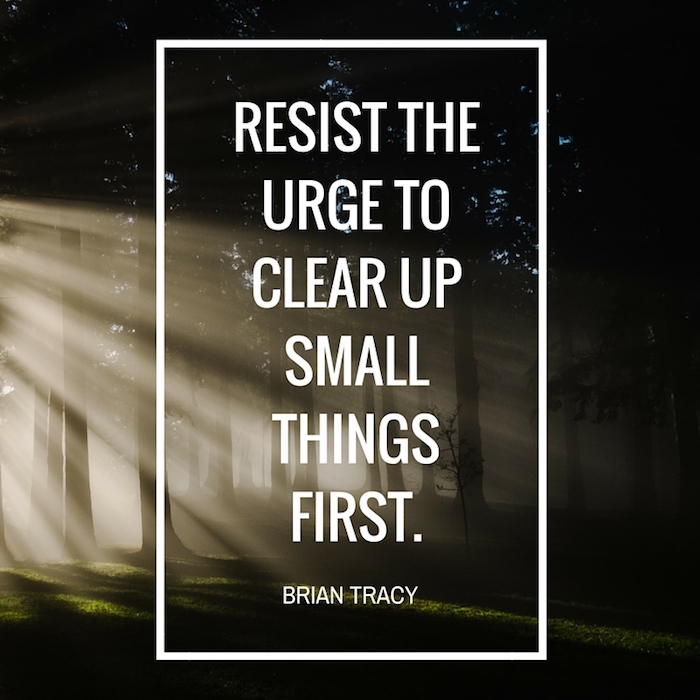 resist the urge quote by Brian Tracy on forest background