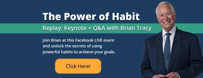 the power of habit, live on facebook with brian tracy