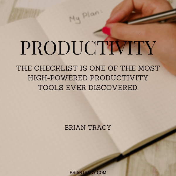 Brian-Tracy-The-checklist-is-one