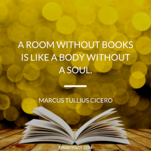 "quote about importance of writing books, ""a room without books is like a body without a soul"""