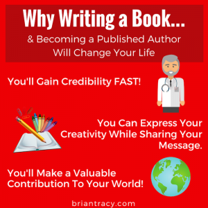 "infographic reads, ""why writing a book will change your life - credibility, creativity, contribution"""