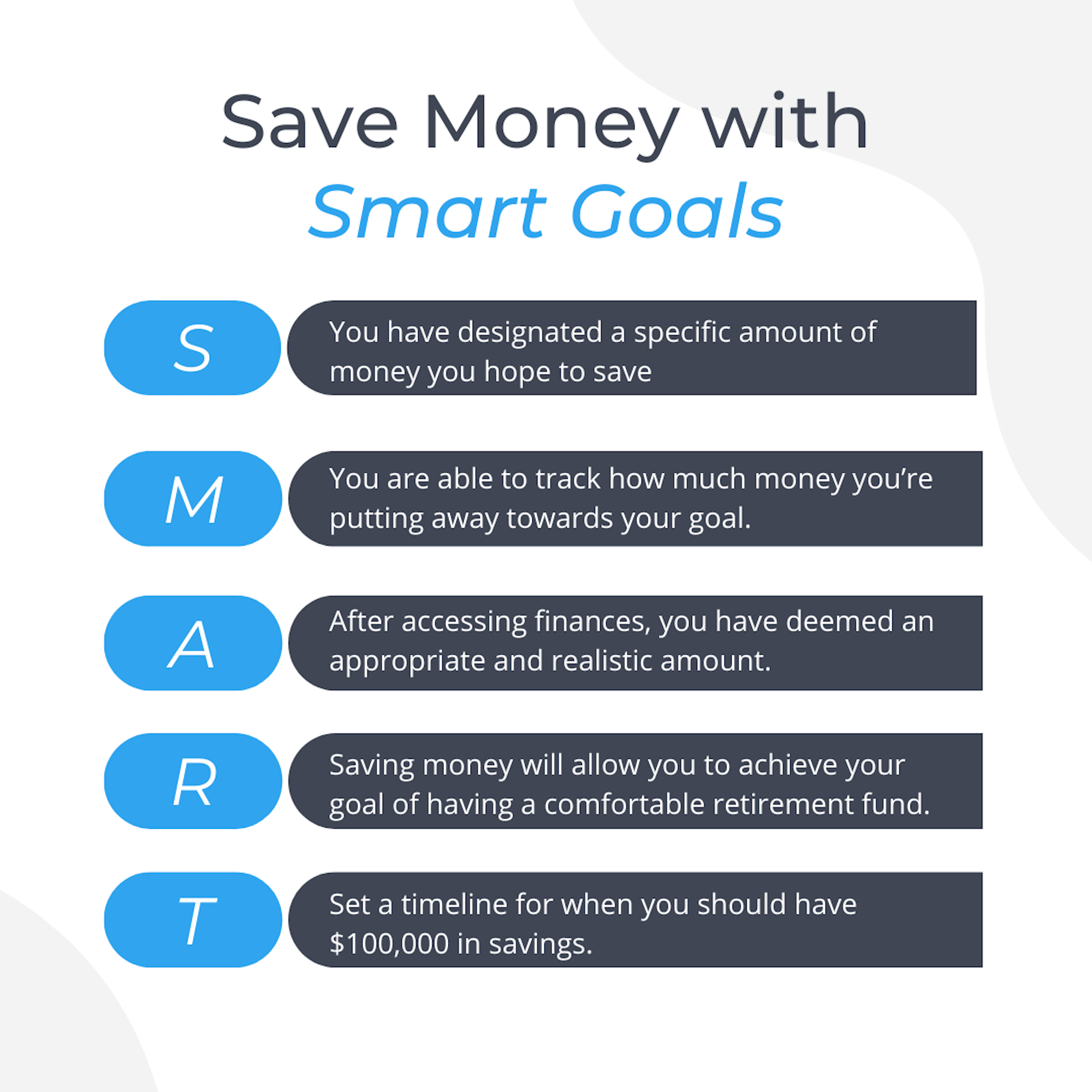 save money with smart goals