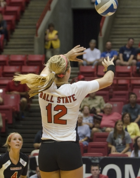 WOMEN'S VOLLEYBALL: Cardinals bounce back, sweep Falcons