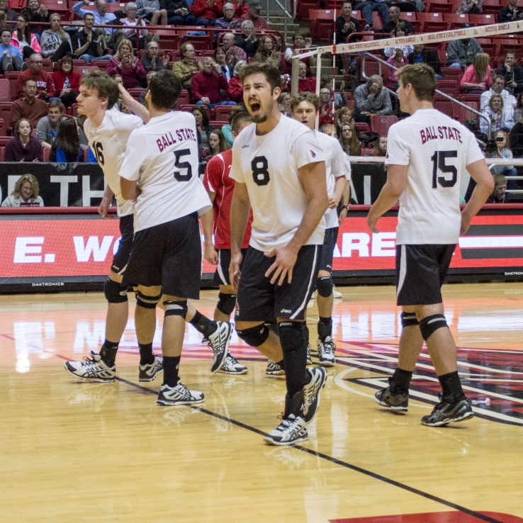 Ball State men's volleyball hosts two matches over the weekend