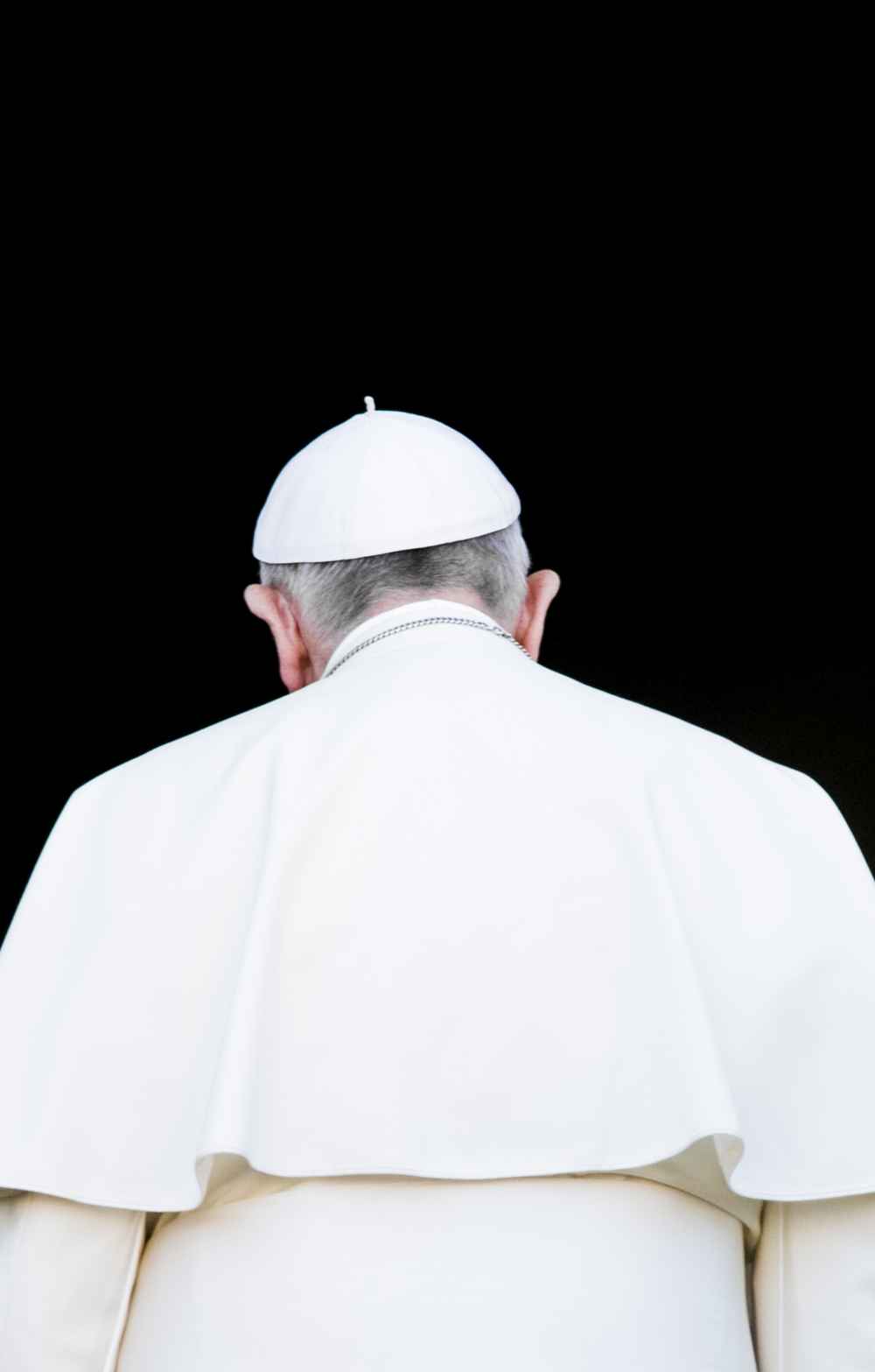 Pope Francis view from rear view. PHOTO RETRIEVED FROM THINKSTOCK BY GETTY IMAGES.