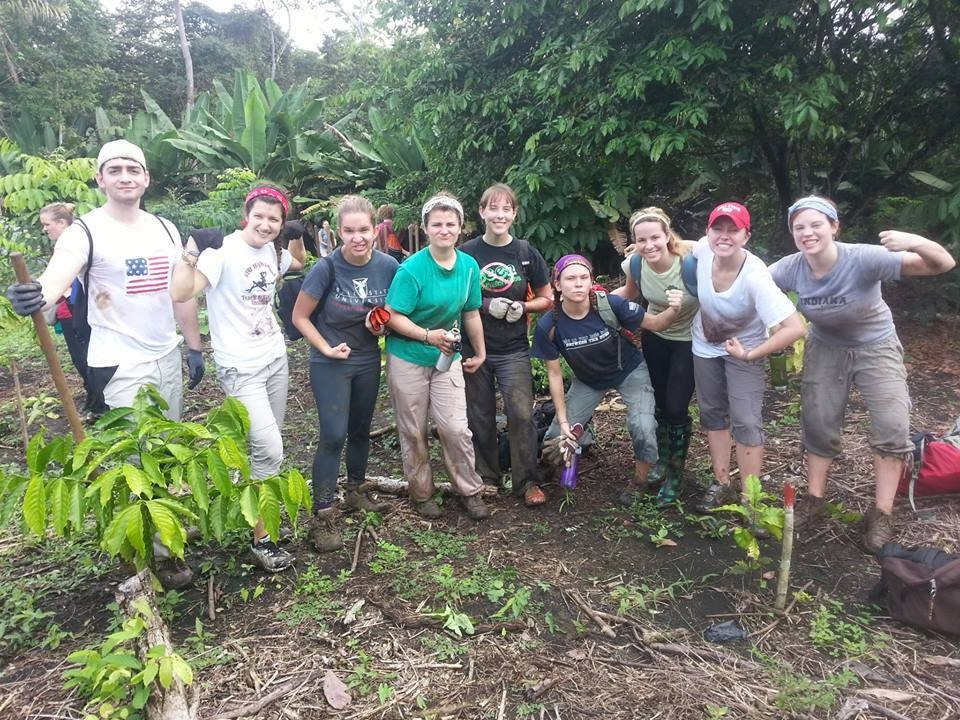 TheBall State Environmental Brigade poses for a photo while planting Cocobolo trees in Panama.PHOTO PROVIDED BY BRIANNA LISAK