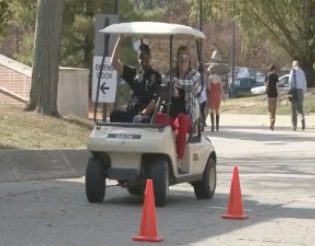 Students participate in drunk driving simulation, raise awareness