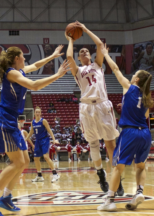 Ball State women's basketball wins season opener on Kids' Day