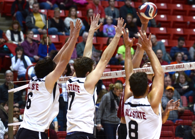 Ball State men's volleyball loses to Ohio State at home 3-1