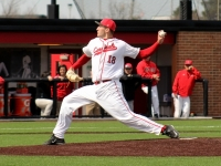 Senior pitcher Kevin Marnon attempts to pitch the baseball on Friday, March 18, 2016 at First Merchants Ballpark Complex.The Cardinalslost the first game of the season Sunday.Allye Clayton // DN File
