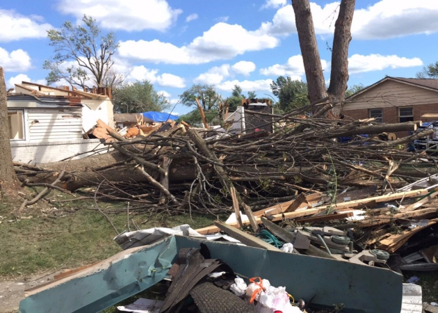 Ball State students return to Kokomo to help with tornado relief