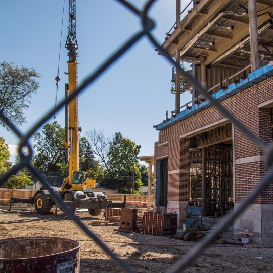 Campus construction work on schedule, some parts almost complete