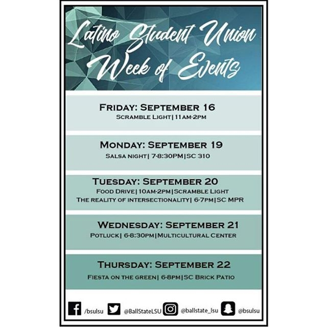Latino Student Union hosts annual cultural week of events