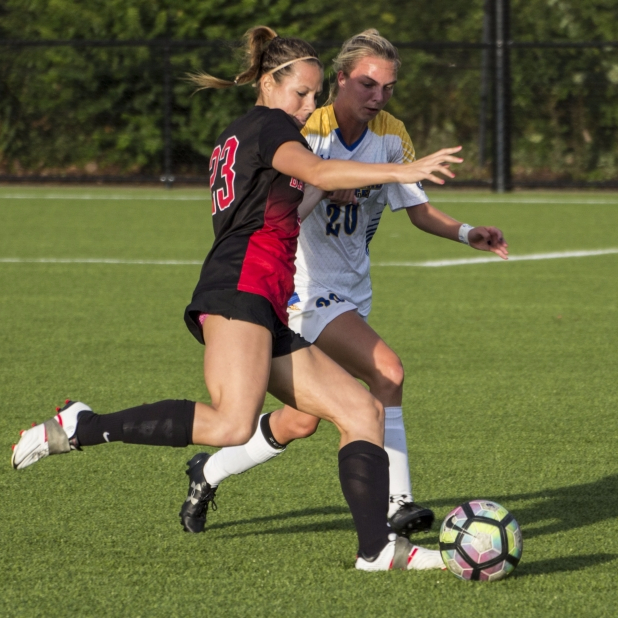Soccer comes out with a shaky win against Akron