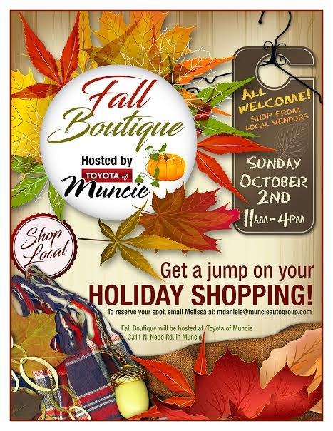 Toyota of Muncie hosts free Fall Boutique