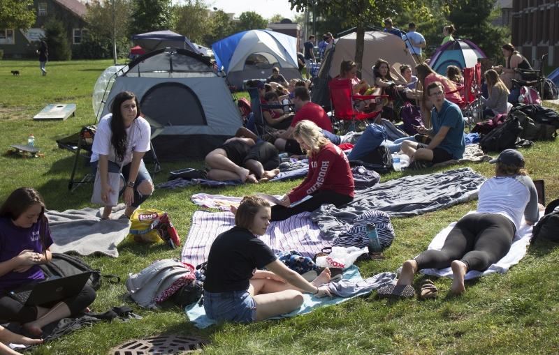 Ball State students camp out 24 hours before Air Jam tickets go on sale